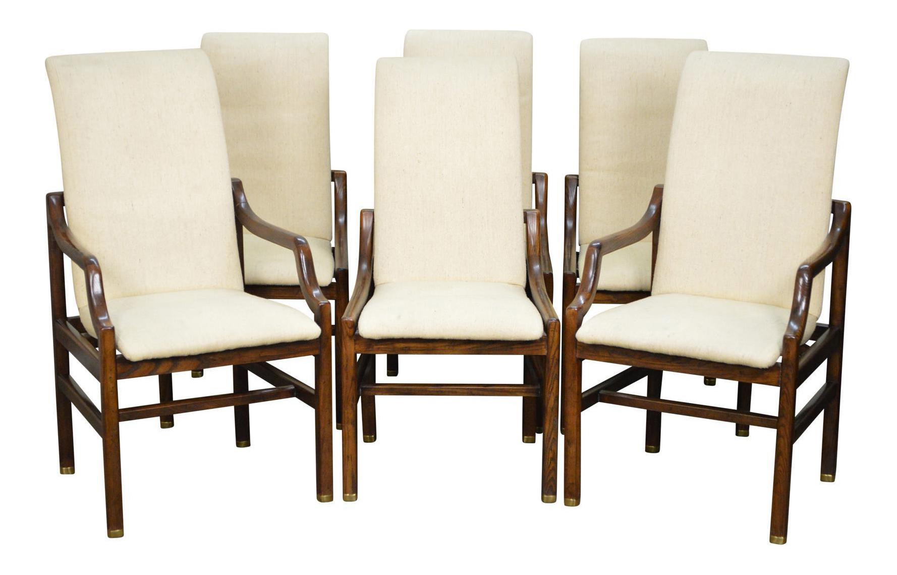 Henredon Mid Century Modern Style Dining Chairs   Set Of 6