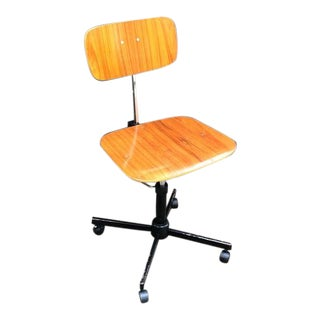 1970s Jorgen Rasmussen for Kevi Rabami Stole Danish Swivel Desk Chair For Sale