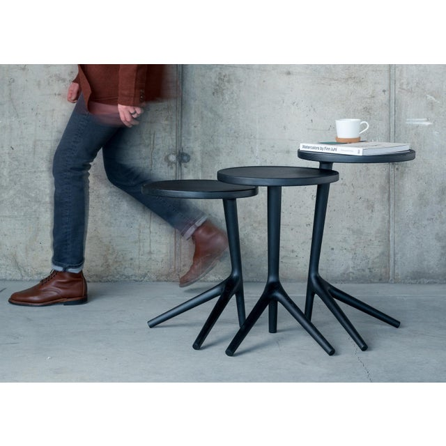 Contemporary Tripod Nesting End Tables - Set of 3 For Sale - Image 6 of 13