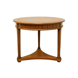 Hekman Furniture Italian Neoclassical Tuscan Style Round End Table For Sale