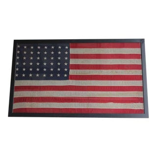 1930's Vintage Original 48 Stars American Flag For Sale