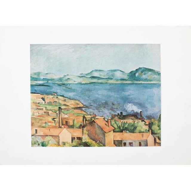 Lithograph Vintage The Bay From l'Estaque Lithograph by Cezanne For Sale - Image 7 of 8