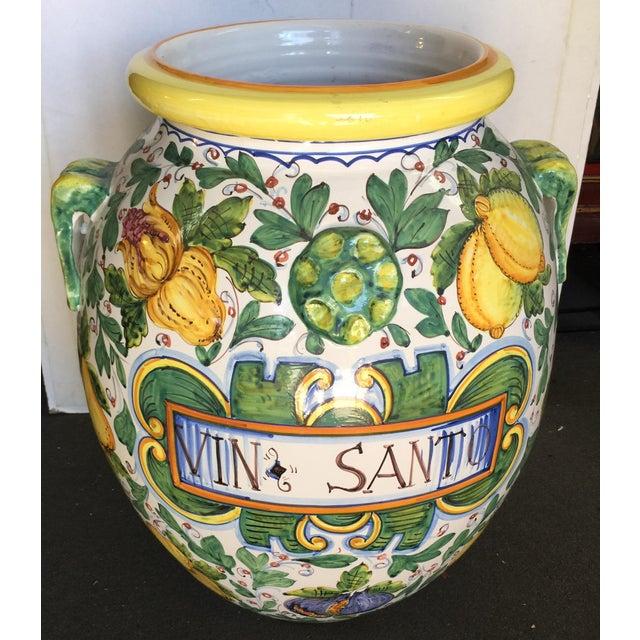 Ceramic Large Vin Santo Italian Storage Jar For Sale - Image 7 of 7