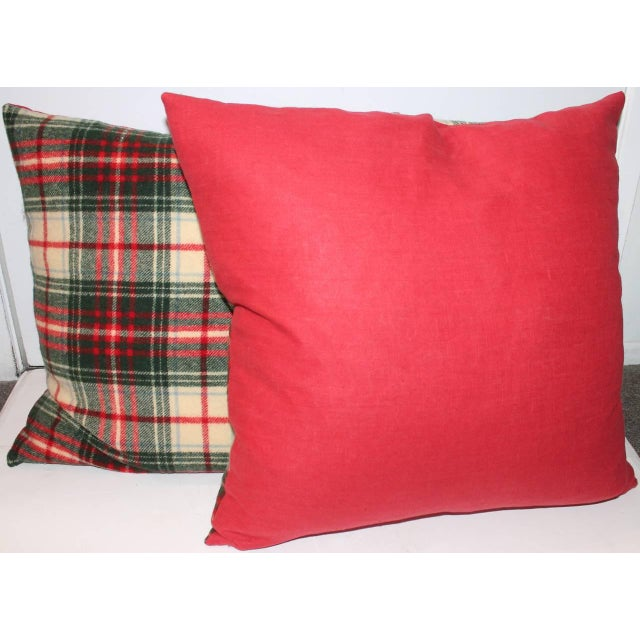 Pendleton Woolen Mills Pair of Wool Plaid Pillows For Sale - Image 4 of 5