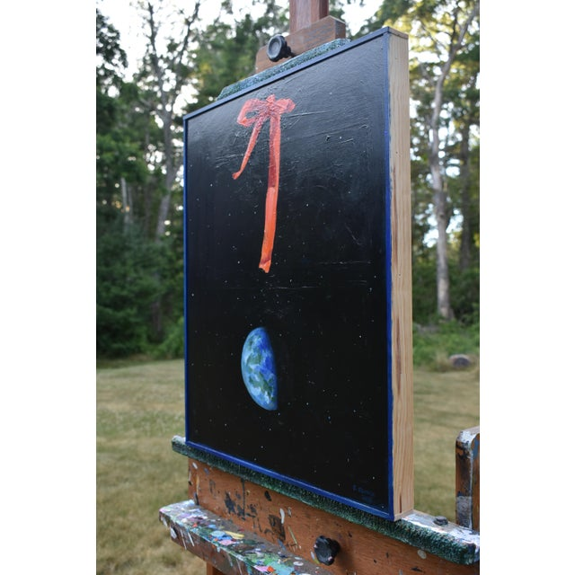 "Black ""You Are Here"" Painting by Stephen Remick For Sale - Image 8 of 13"