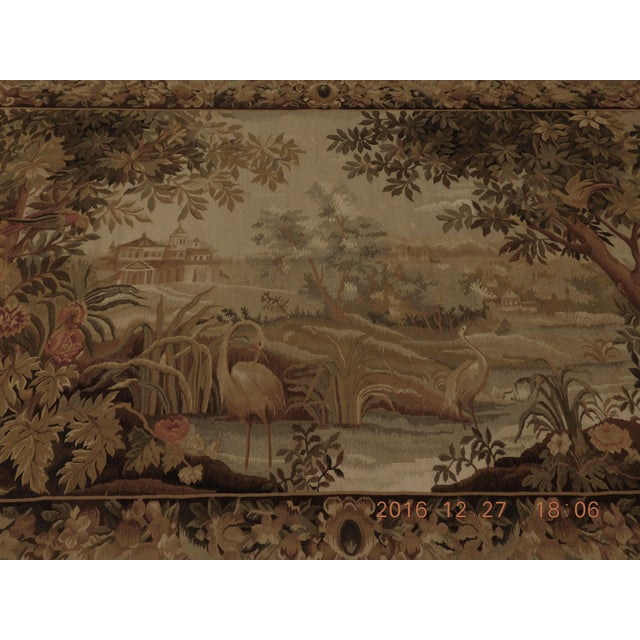 """Chineses Abusson Style Tapestry. 4'x 5'8"""" For Sale - Image 9 of 10"""