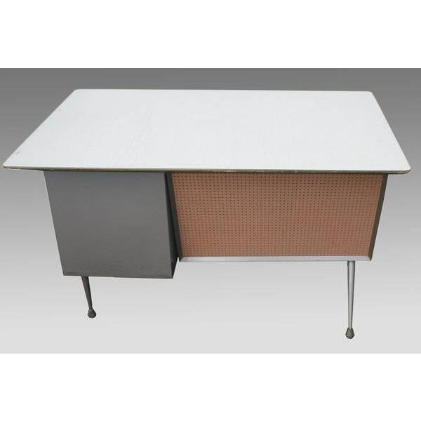 Brown Raymond Loewy Brunswick 4 Drawer Office Desk For Sale - Image 8 of 8
