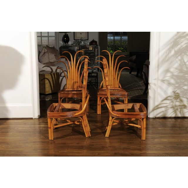 Jaw-Dropping Unique Pair of Custom-Made Palm Frond Chairs, circa 1950 For Sale - Image 4 of 13
