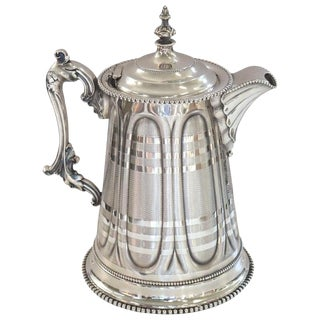19th Century American Antique Silver Plate Pitcher by Rogers Smith & Co For Sale