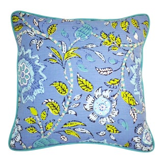 Thibaut Multi-Colored Floral Pillow For Sale