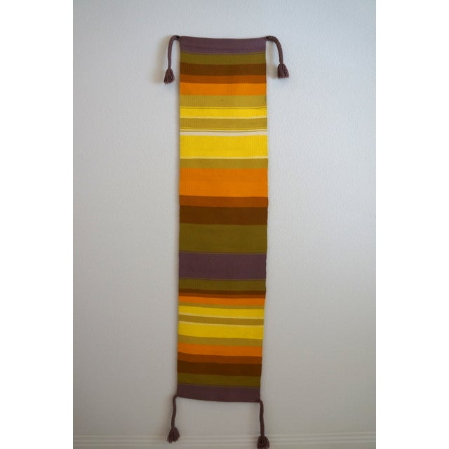 Mid-Century Handwoven Wall Hanging - Image 2 of 6