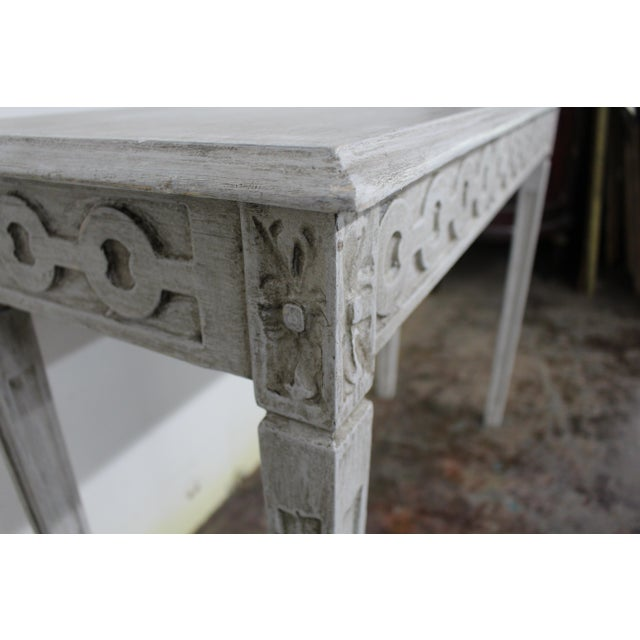 20th Century Vintage Swedish Gustavian Style Console Table For Sale - Image 4 of 9