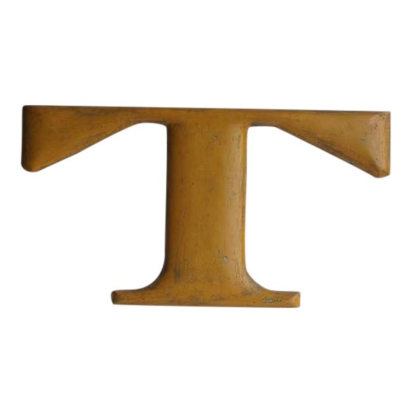 Large Original American 1900's Iron Letter T - Image 1 of 3
