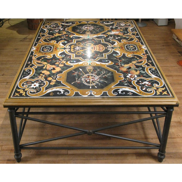 Italian Pietra Dura Inlaid Stone Table For Sale - Image 9 of 9
