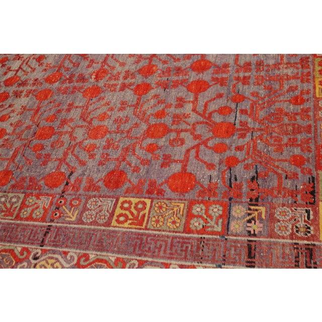 "Asian Antique Khutan Rug-8'x15'5"" For Sale - Image 3 of 7"