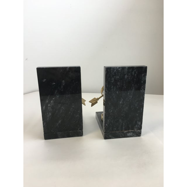 Armillary Marble and Brass Bookends - a Pair - Image 6 of 6