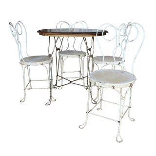 Vintage Ice Cream Parlor Dining Set For Sale
