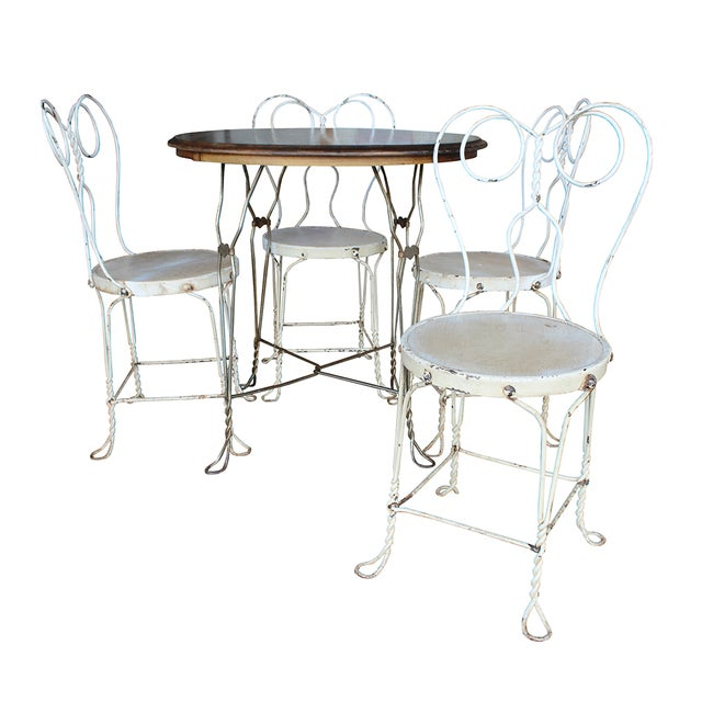 Vintage Ice Cream Parlor Dining Set - Image 1 of 6