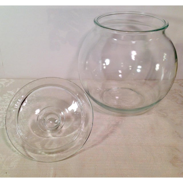 Glass Mid-Century Glass Lidded Jar For Sale - Image 7 of 9