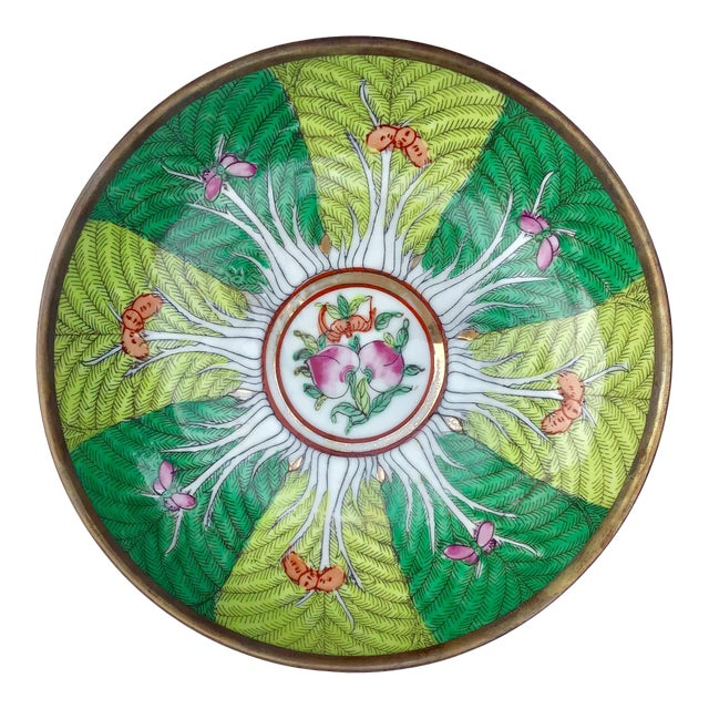 Famille Rose Verte Bowl Catchall For Sale