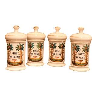 Set of 4 Porcelain Apothecary Jars, Circa: 1820, Paris For Sale