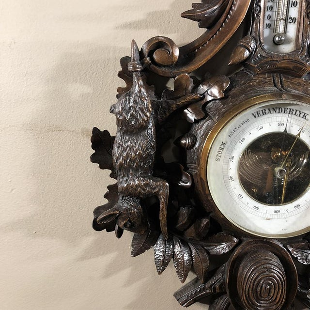 19th Century Black Forest Barometer - Thermometer For Sale - Image 10 of 12