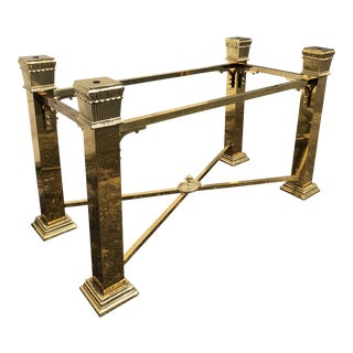 Italian Mastercraft Brass Dining Table Base For Sale
