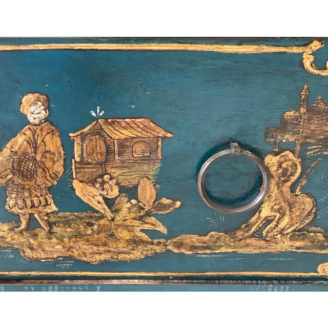 Wood 18th C. Venetian Chinoiserie Commode For Sale - Image 7 of 11