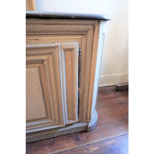 Mid 19th Century 19th Century French Painted Buffet For Sale - Image 5 of 10