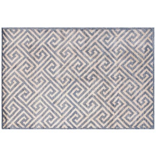 Stark Studio Rugs Contemporary New Oriental Tibetan 100% Bamboo Silk Rug - 10′ × 14′1″ For Sale