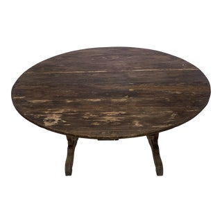 French Pine Wine Table For Sale