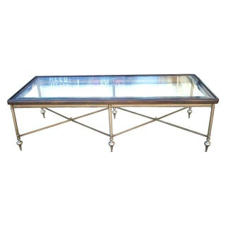 Long Campaign Style Coffee Table For Sale