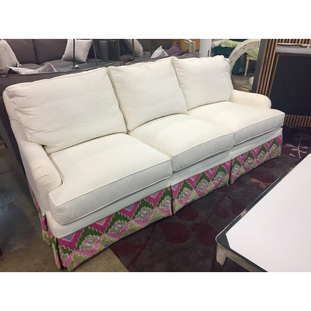 Century Furniture Century Furniture Carter's Skirted Sofa For Sale - Image 4 of 4