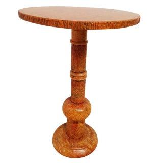 Italian Mid-Century Orange Marble Martini Table