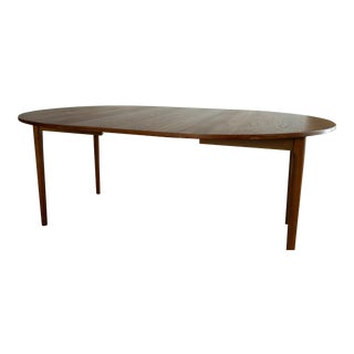 1960s Mid-Century Modern Expandable Teak Dining Table For Sale