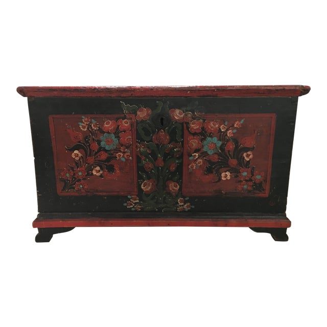19th Century Painted Pine Chest For Sale