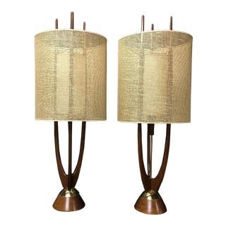 Mid-Century Modern Lamps by Modeline - a Pair For Sale