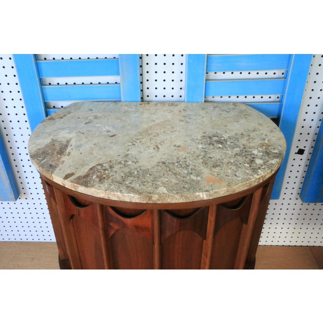 1960s 1960s Kent Coffey Marble Top Nightstands For Sale - Image 5 of 6