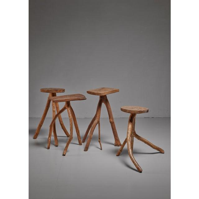 Fernando da Ilha do Ferro craft stool, Brazil For Sale - Image 4 of 5