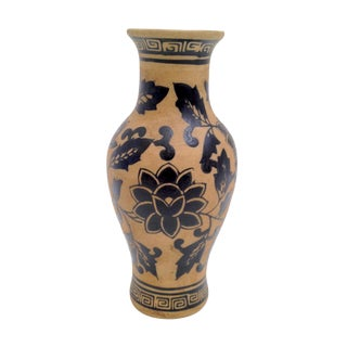 Black Figured Ware Reproduction Greek Pottery Vase For Sale