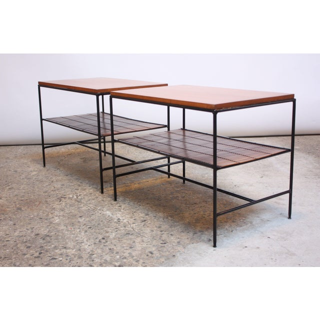 Pair of Paul McCobb 'Planner Group' Iron and Maple Occasional Tables For Sale - Image 13 of 13