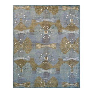 Handwoven Swedish Inspired Mansour Modern Wool Rug For Sale
