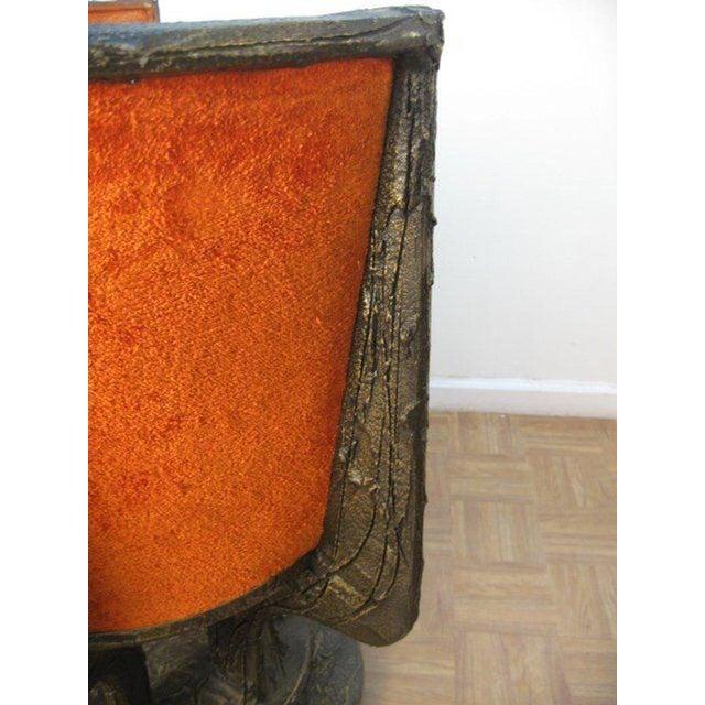 Paul Evans Set Four Paul Evans Sculpted Bronze Chairs For Sale - Image 4 of 8