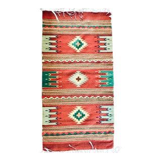 Vintage Navajo Geometric Flatweave Rug - 2′4″ × 4′10″ For Sale