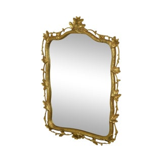 Friedman Brothers Faux Boss Gilt Frame Wall Mirror For Sale