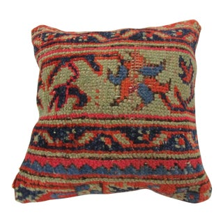 Vintage Hand-Knotted Turkish Pillow Cover For Sale