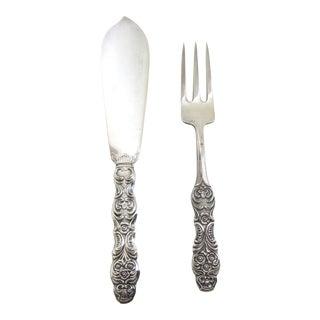 Vintage Hallbergs Fish Knife and Fork Set- Sweden