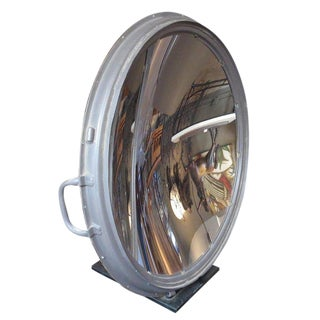 Large Table Mounted Parabolic Mirror by g.e. For Sale