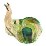 Image of Murano Glass Elephant Sculpture For Sale