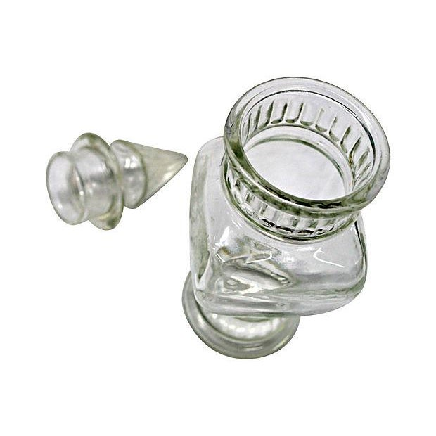 Clear Glass Apothecary Jar For Sale - Image 4 of 5